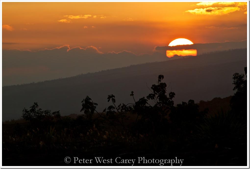 Golden Hawaiian Sunset
