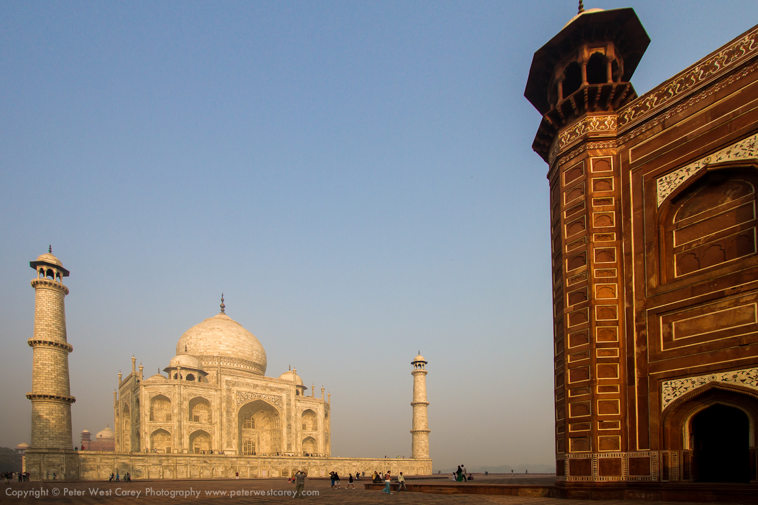 Morning At The Taj Mahal