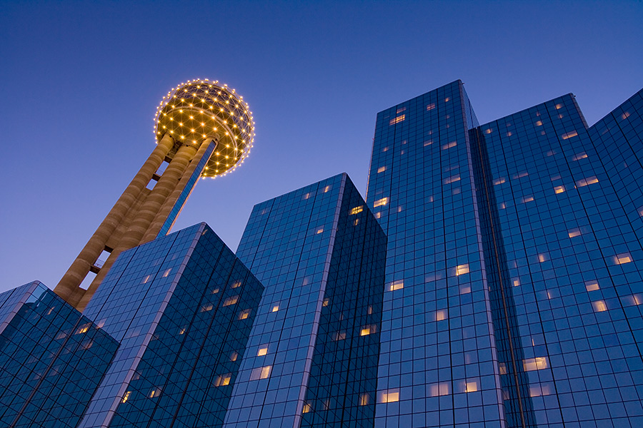 Reunion-Tower-and-the-Hyatt
