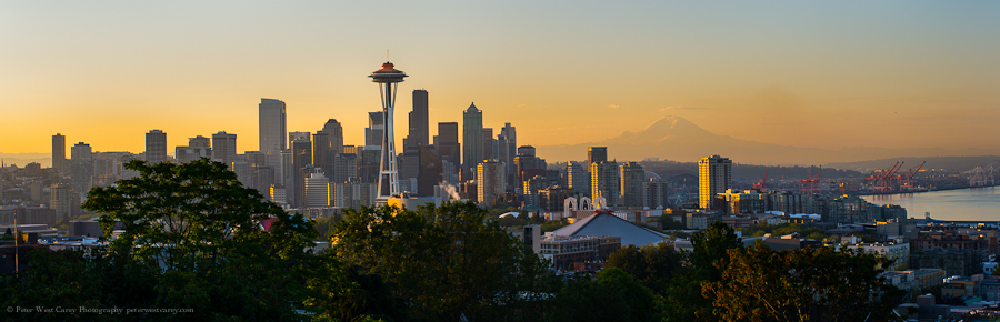 Seattle Sunrise - Peter West Carey Photography
