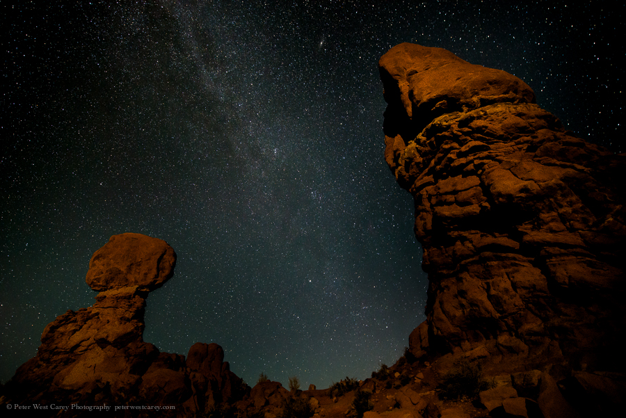 Milky Way And Balanced Rock