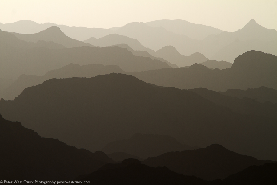 Layers, Al Hajar Mountains, Oman - Peter West Carey Photography