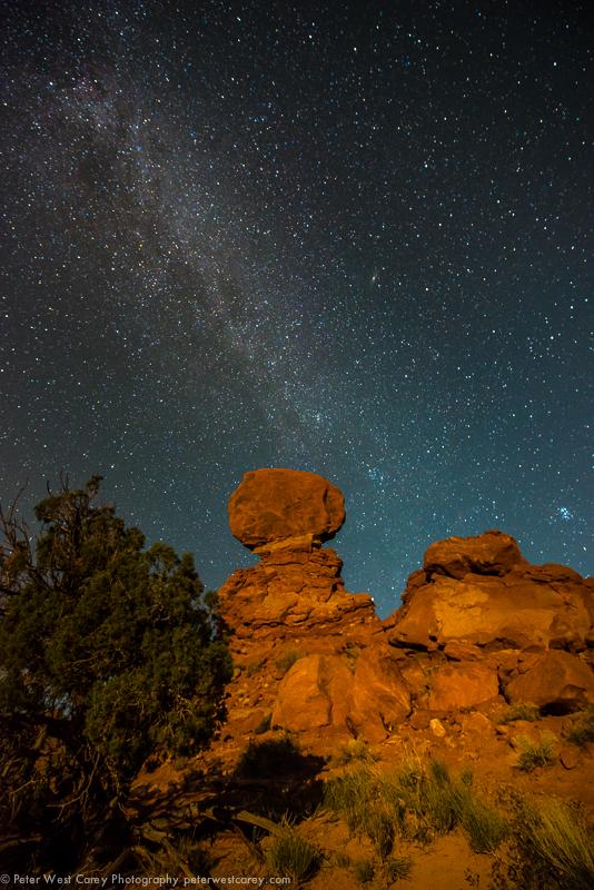 Milky Way Over Balanced Rock II