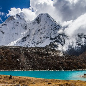 Ama Dablam And Lake, Nepal