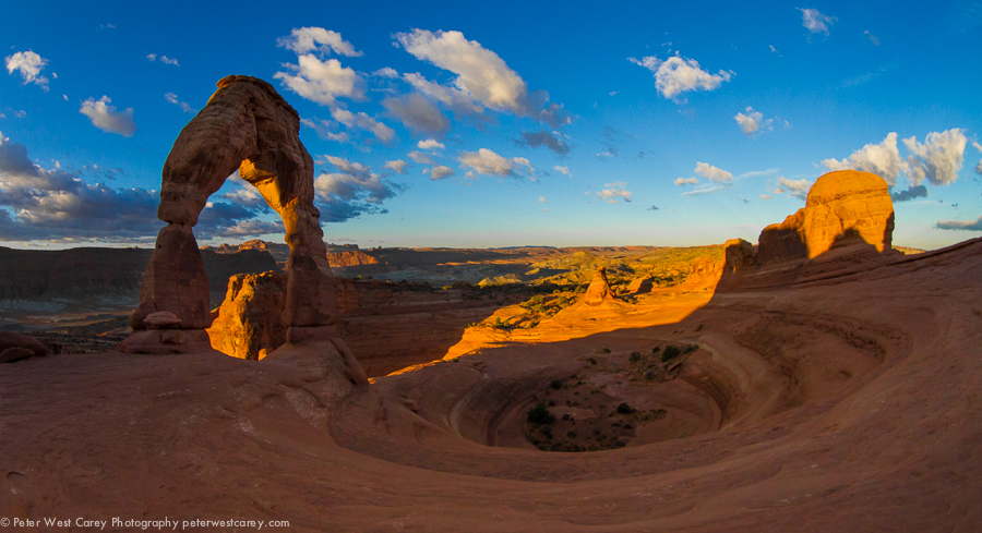 Deserted Delicate Arch At Sunrise