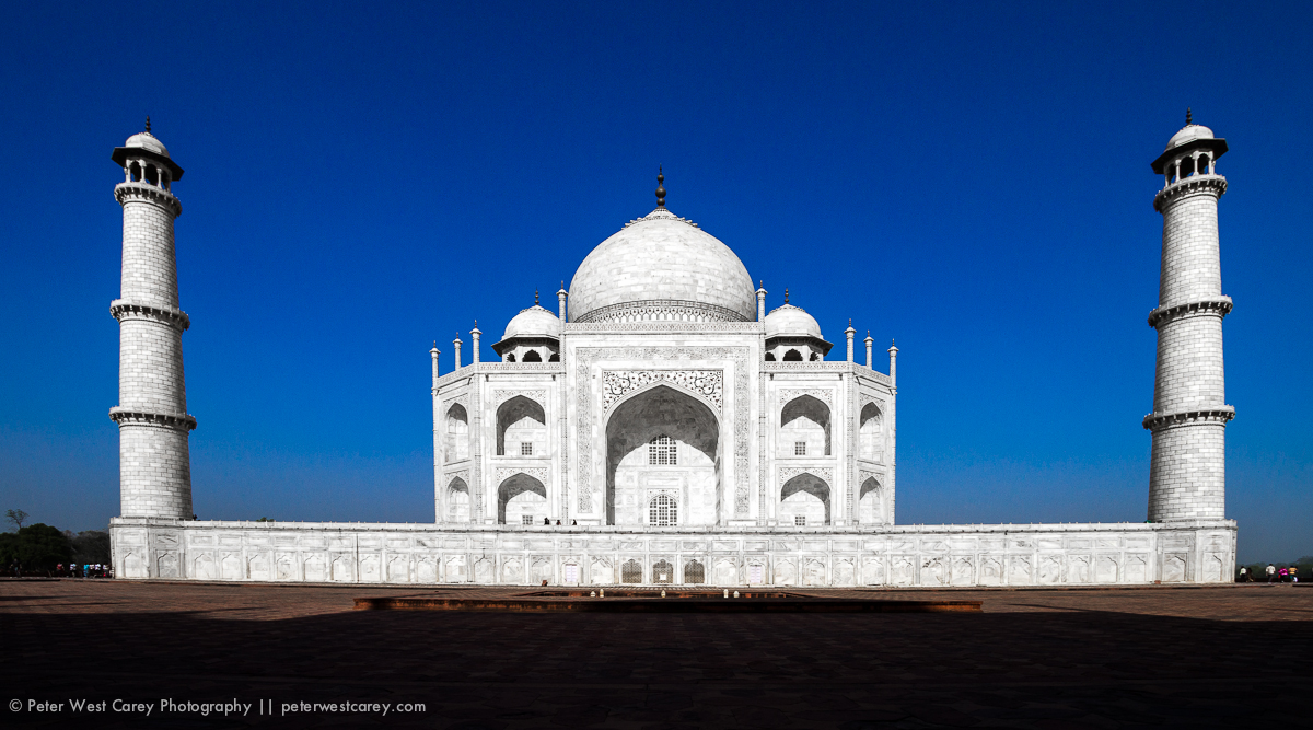 The Taj Mahal Bathed In Morning Light