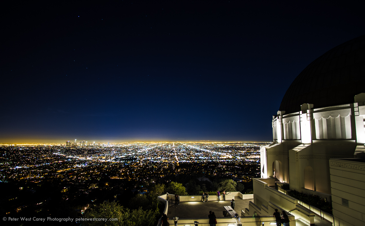 Los Angeles Below The Griffith Observatory