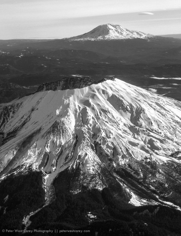 Mount Saint Helens And Mount Adams, Washington, USA
