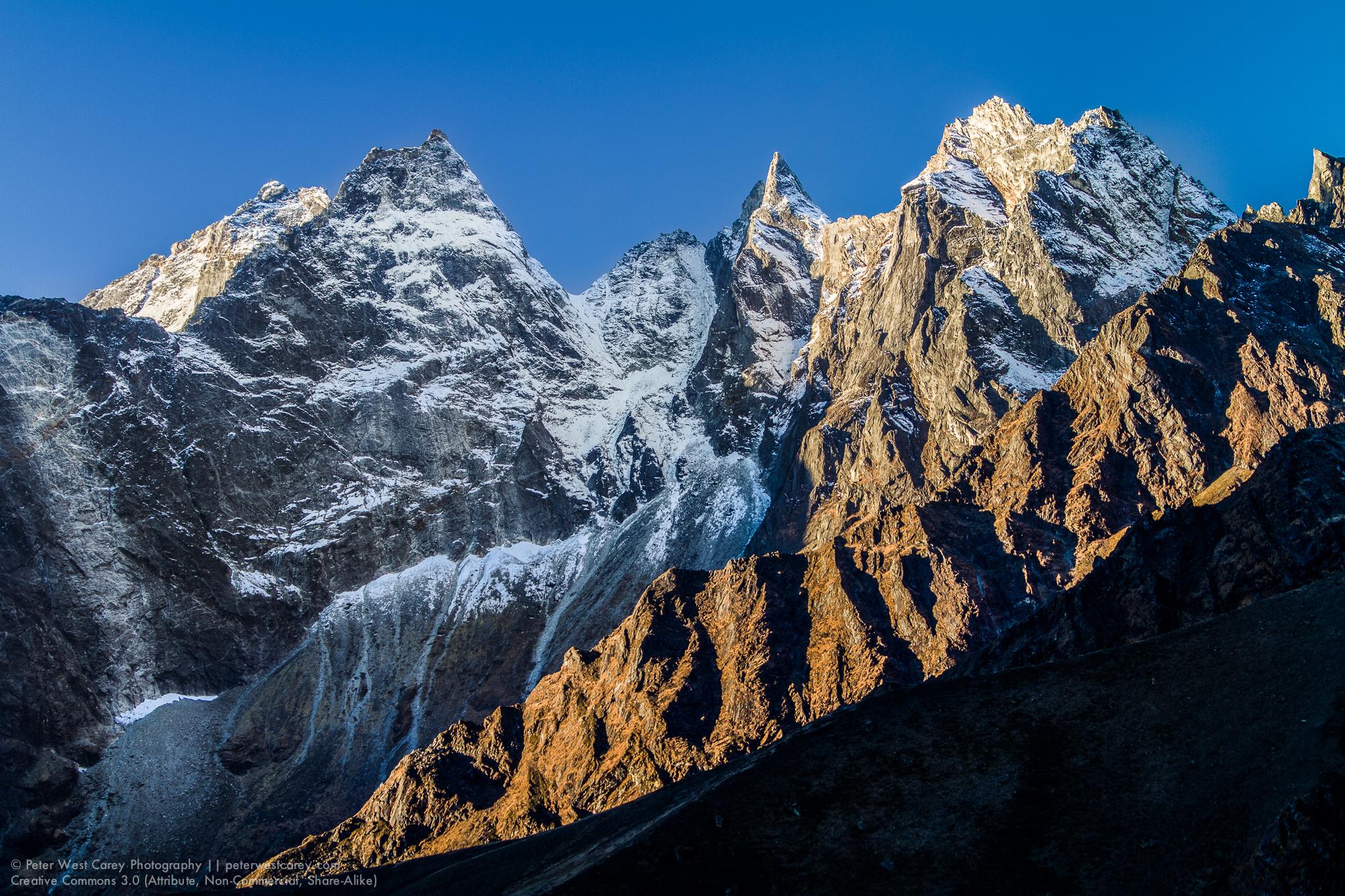 Jagged Himalayas At Sunrise, Nepal
