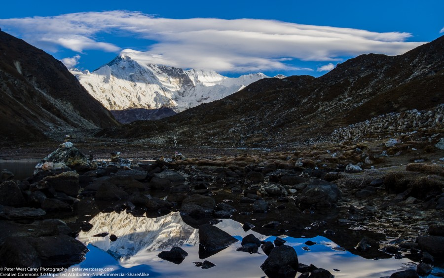 Cho Oyu Reflected In Dudh Pokhari (Gokyo Lake)