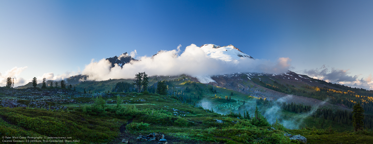 Peter-West-Carey-Mt Baker And Clouds At Sunset-2